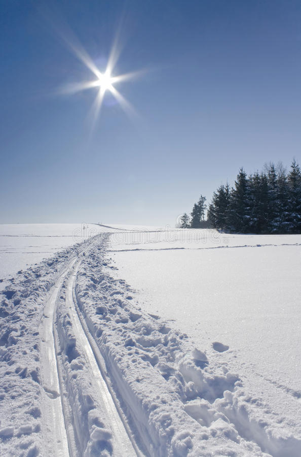 Download Ski track stock image. Image of field, beauty, panorama - 12995097