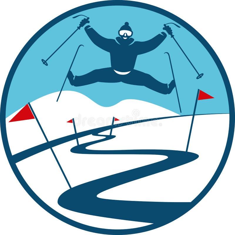 Ski Track Logo ilustração royalty free
