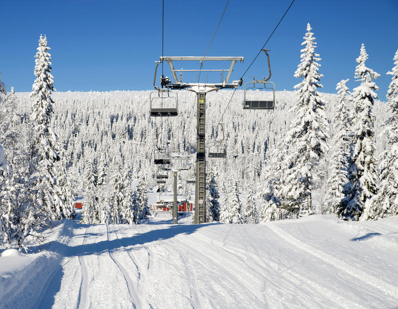 Download Chair lift stock photo. Image of cold, pine, forest, chair - 30282916