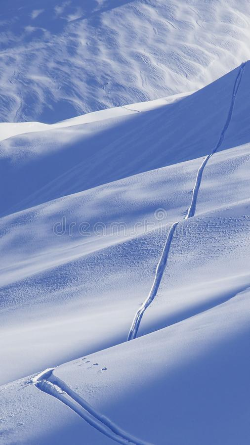 Free Ski Track. Winter Smartphone Wallpaper Stock Photo - 104730360