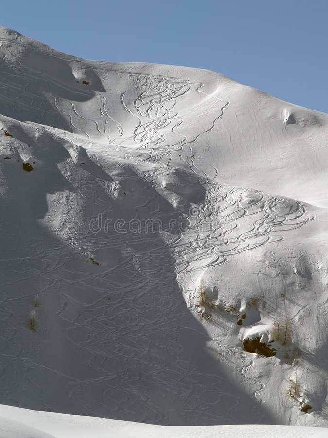 Download Ski Tracks Pattern stock image. Image of hilly, nature - 4354441