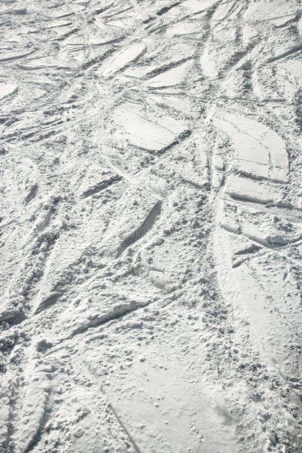 Download Ski tracks in snow. stock image. Image of vertical, sport - 2045129