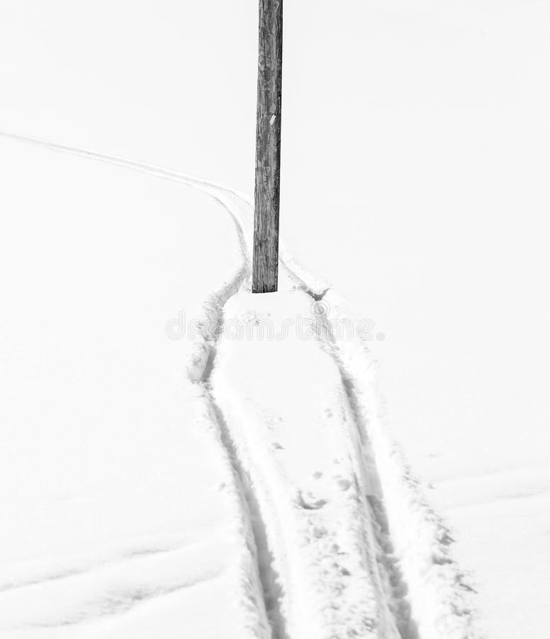 Download Winter ski track stock image. Image of nordic, cross - 30045379
