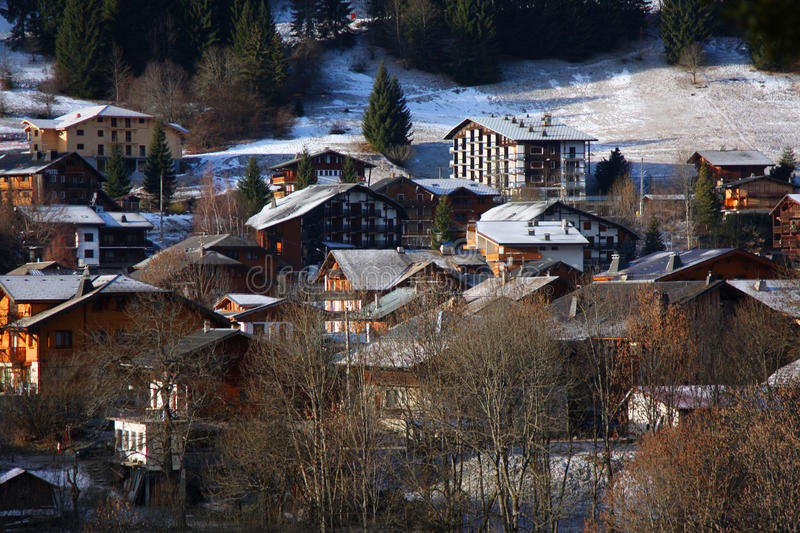 The Ski Village Of Morzine In The French Alps Royalty Free Stock Photo