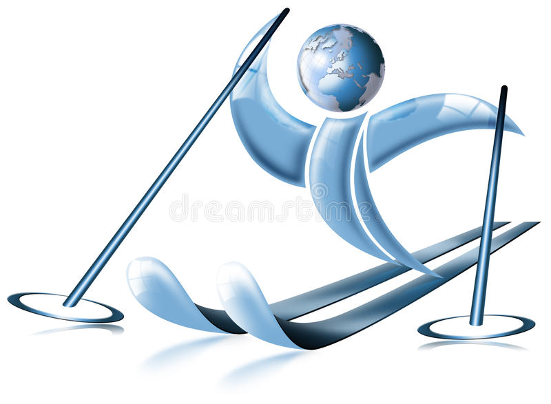 Ski world stock illustration