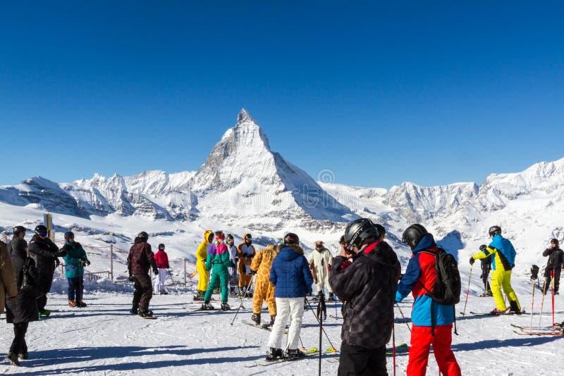 Ski Zermatt photo libre de droits