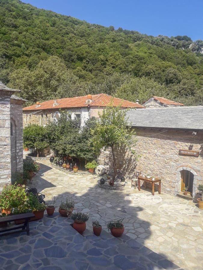 Skiathos海岛的修道院在希腊 库存照片