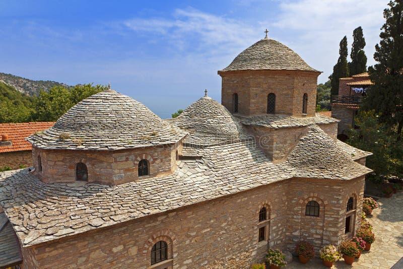 Skiathos海岛的修道院在希腊 免版税图库摄影