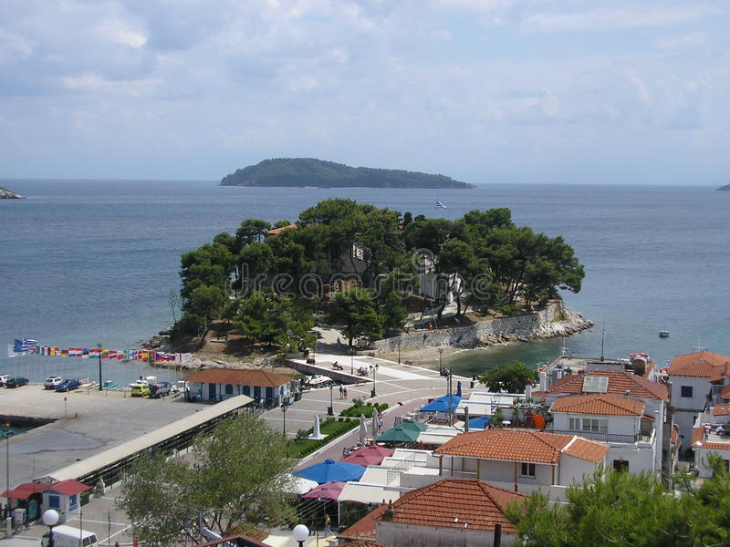 Skiathos ö Grekland arkivbild