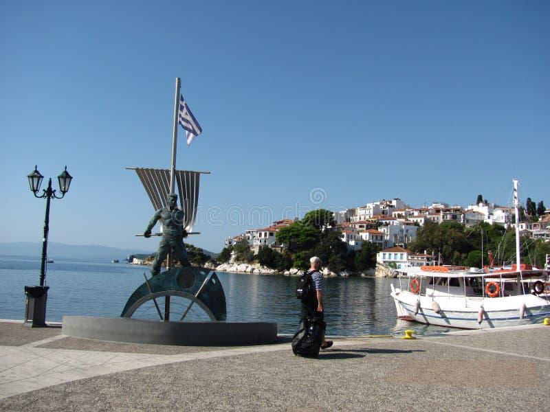 Skiathos en mer Égée photo libre de droits