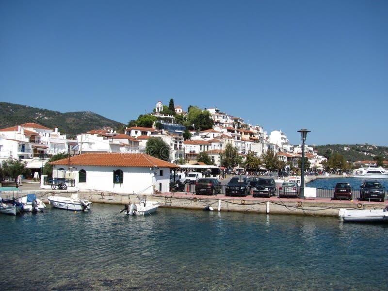 Skiathos en mer Égée photos stock