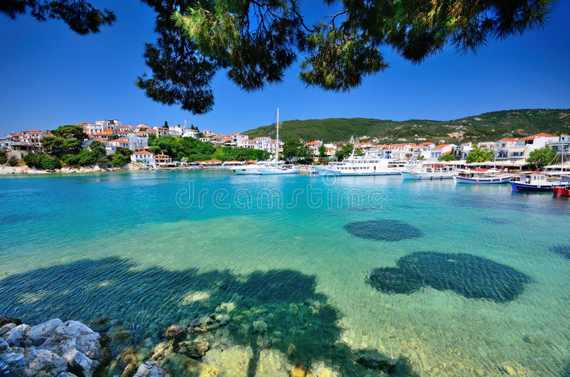 Skiathos, Griechenland lizenzfreie stockbilder
