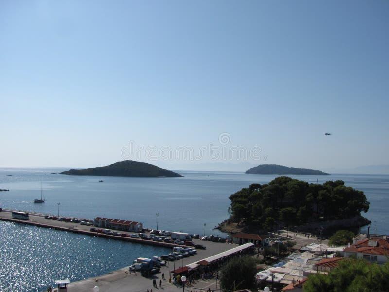 Skiathos i det Aegean havet arkivfoto