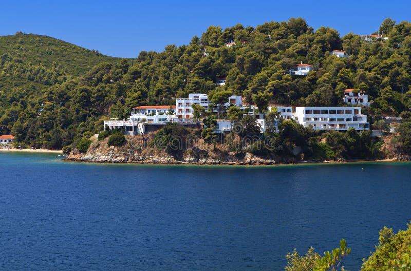 Download Skiathos island in Greece stock photo. Image of shore - 31974174