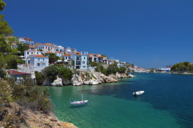 Download Skiathos island in Greece stock image. Image of mediterranean - 31973815