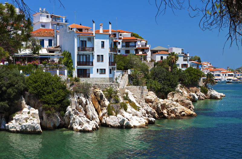 Download Skiathos island in Greece stock image. Image of location - 31973837