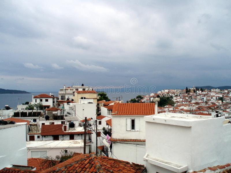Skiathos island in septembre royalty free stock photography