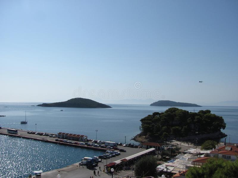 Skiathos no Mar Egeu foto de stock