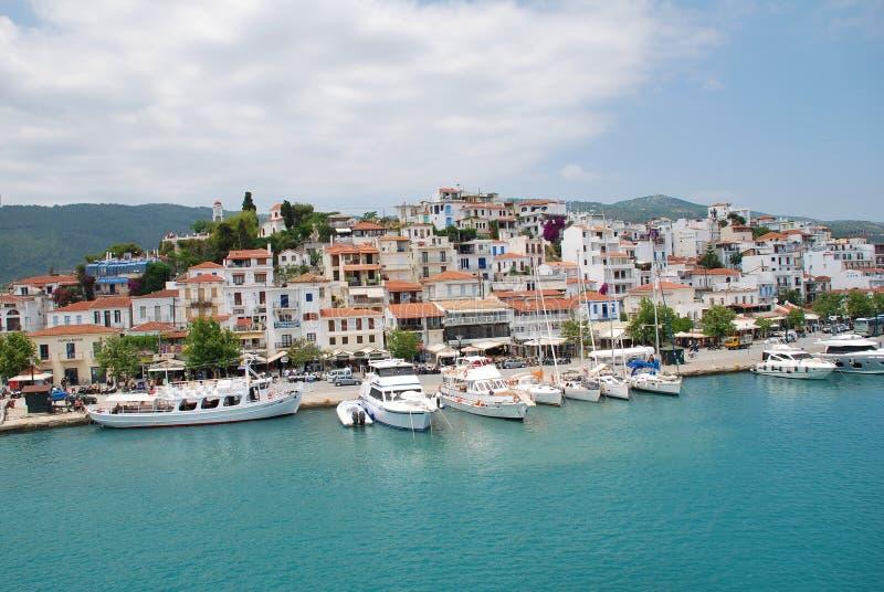 Skiathos Town, Greece royalty free stock photos
