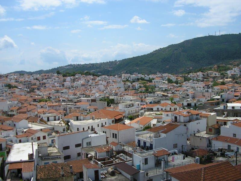 Skiathos Town royalty free stock images