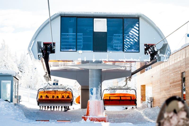 Skiaufzuganschluß lizenzfreie stockfotos