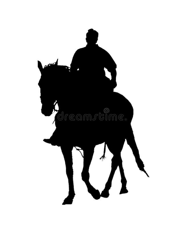 skicklig ryttaresilhouette royaltyfri illustrationer