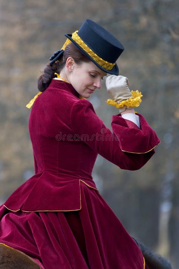 skicklig ryttarinna royaltyfri foto