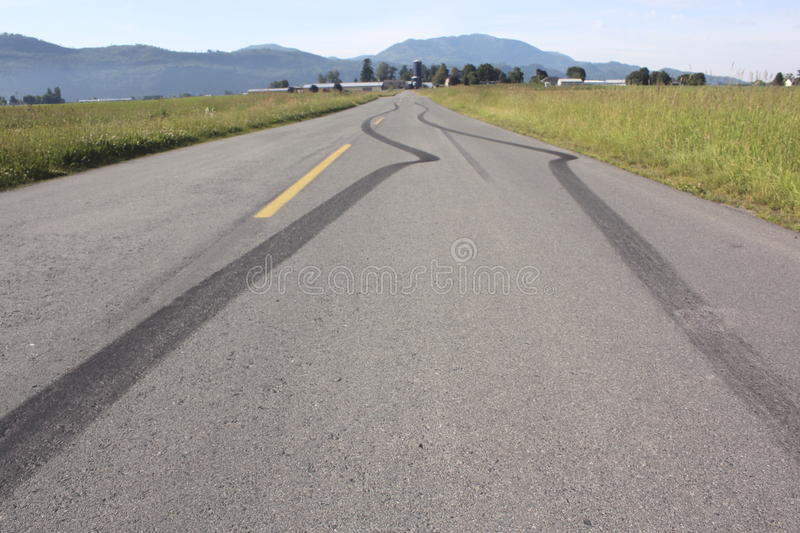 Skid Mark royalty free stock photography