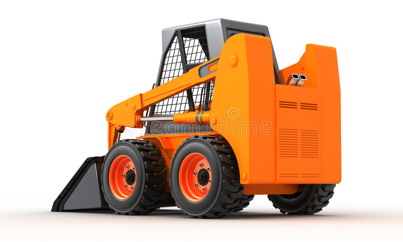Skid steer loader stock illustration