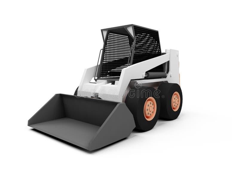 Download Skid steer loader stock illustration. Illustration of white - 7277871