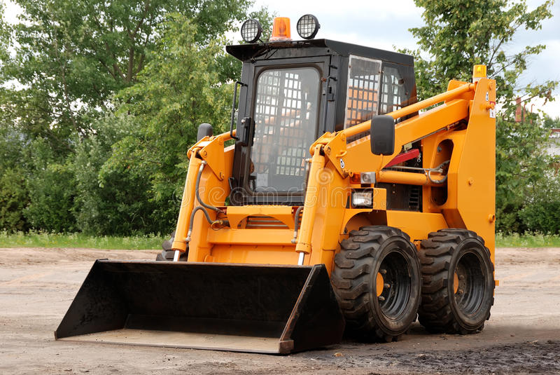 Skid steer loader outdoor royalty free stock photo
