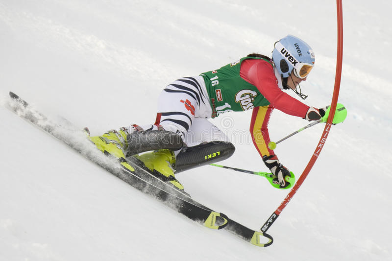SKIDA: Lienz slalom arkivfoton