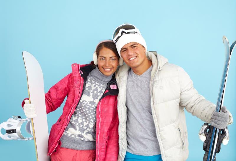 skida vintern för snowsportspår royaltyfri bild