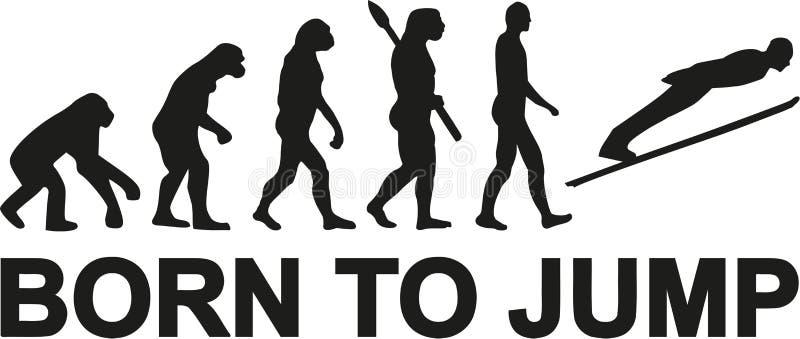 Skidar banhoppningen som uthärdas för att hoppa evolution stock illustrationer