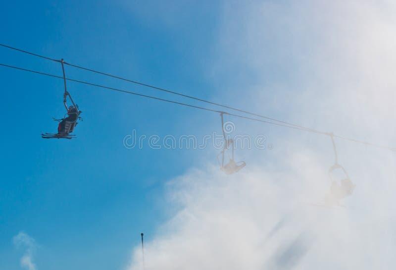 Skidar semesterorten i Bukovel, Ukraina royaltyfria foton