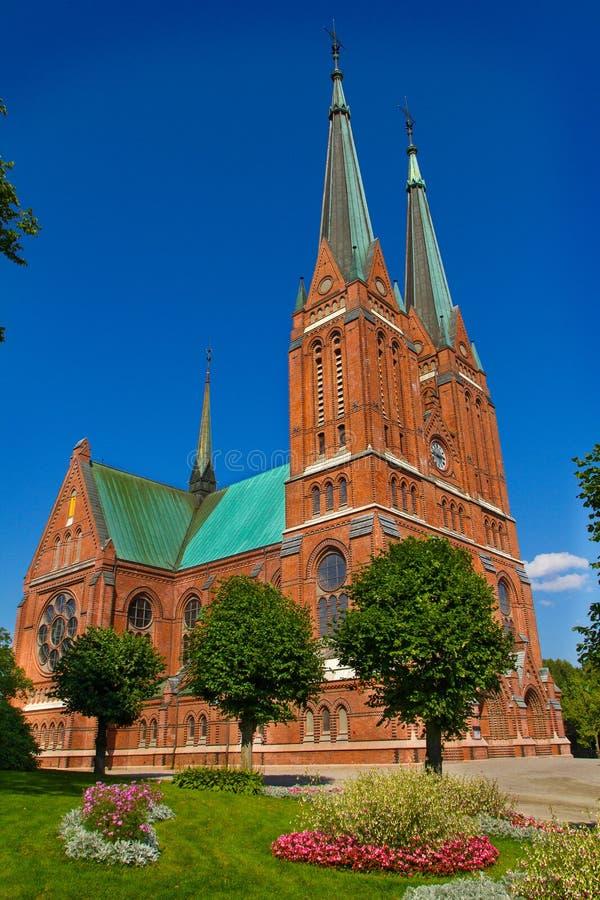 Skien-Kirche ist eine Neo-gotische Kirche ab 1894, gefunden in Skien, Telemark, Norwegen stockfoto