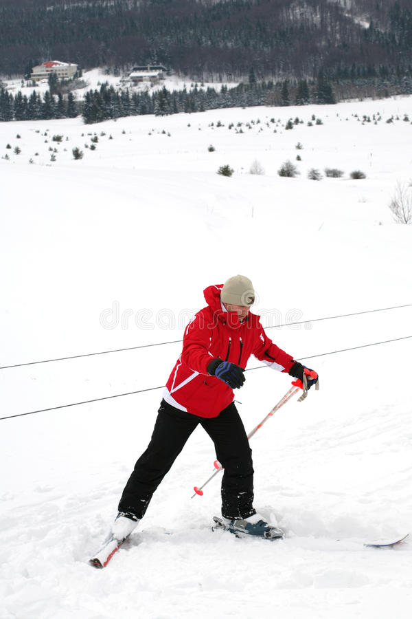 Download Skier stock image. Image of outdoors, dangerous, lift - 12511501