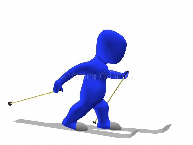 Download Skier stock illustration. Illustration of athlete, motion - 13057488
