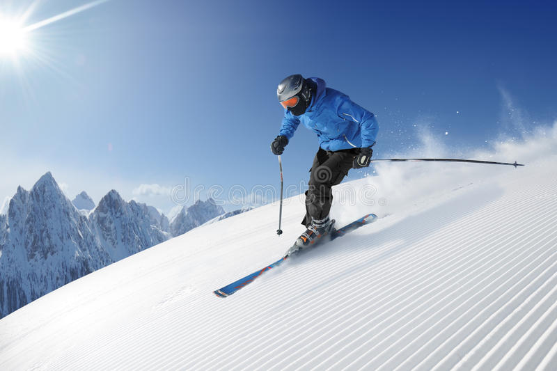 Download Skier stock image. Image of competition, downhill, outdoors - 13797711