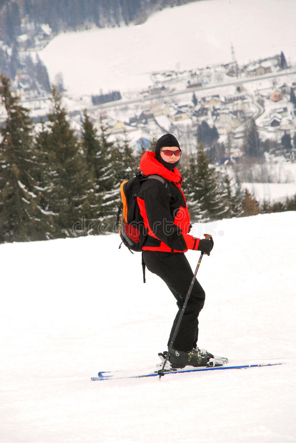 Download Skier stock image. Image of enjoying, fast, outside, cold - 13988385