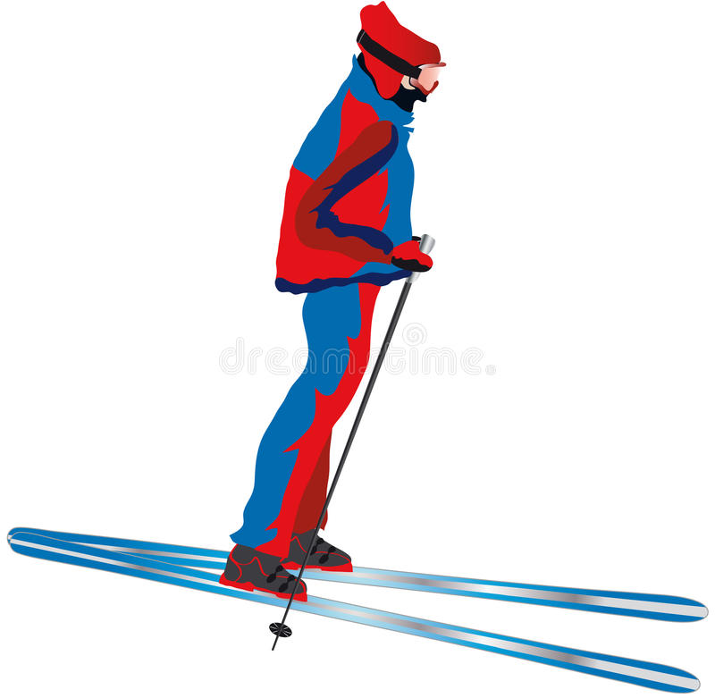 Download Skier stock vector. Illustration of sports, illustration - 17158723