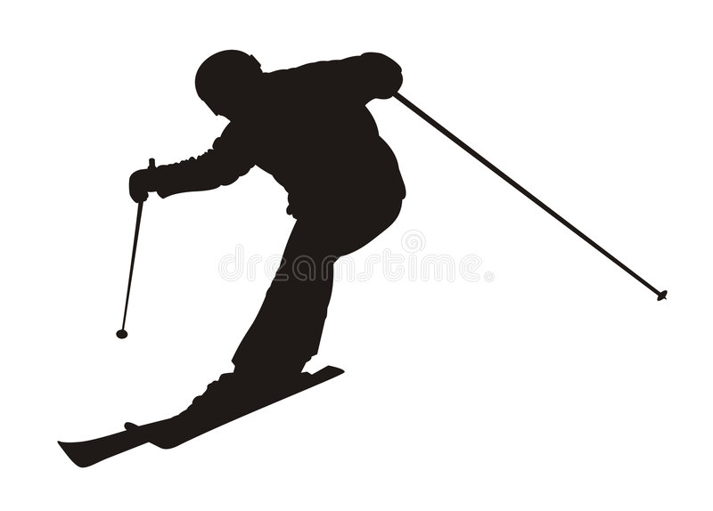 Skier royalty free illustration