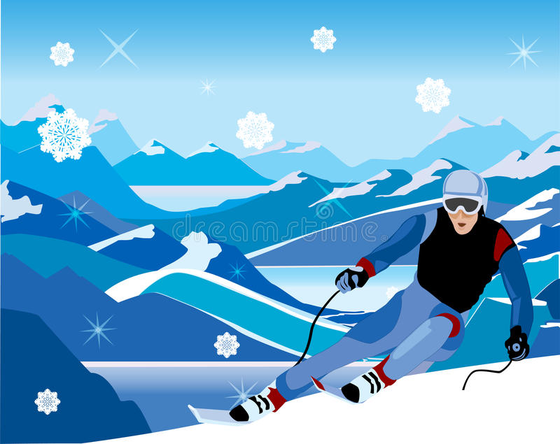 Download Skier stock vector. Illustration of mountain, outdoor - 22154912