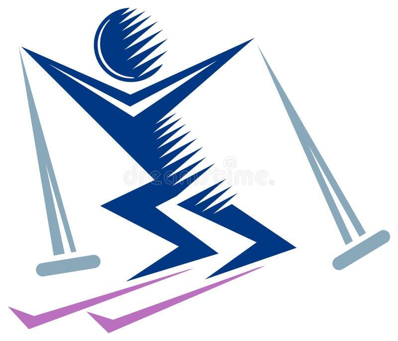 Download Skier stock vector. Illustration of blue, industries - 22481740