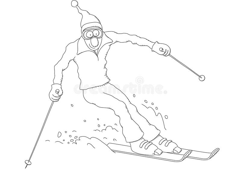 Download Skier stock vector. Image of skiing, isolated, fast, challenge - 23290574
