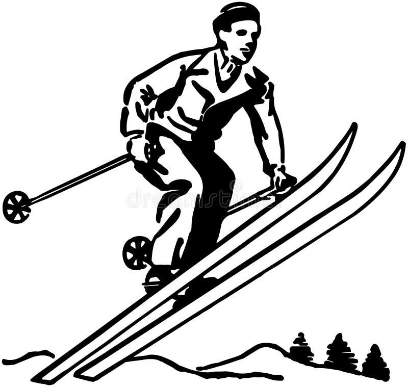 skier ilustração stock