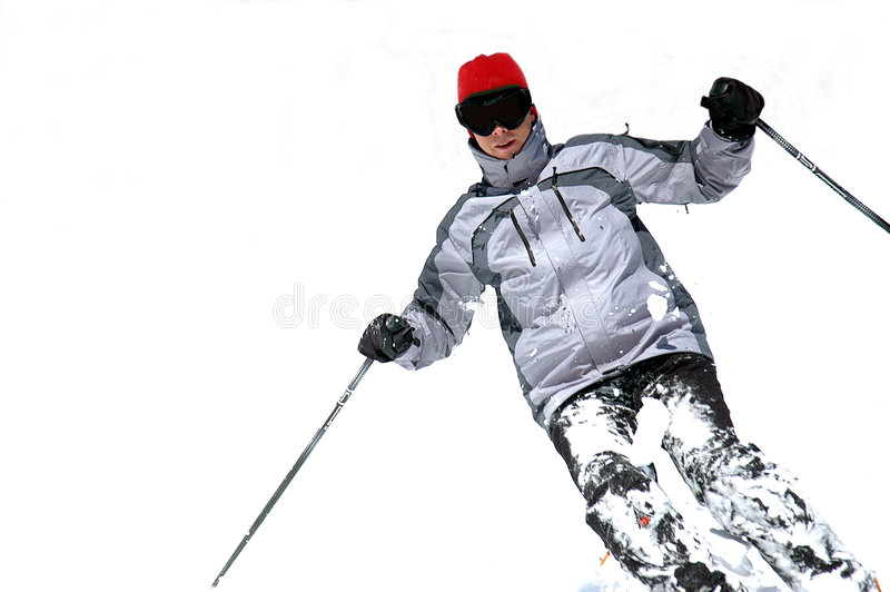 Download Skier stock image. Image of skiing, outdoors, turning, sports - 510593
