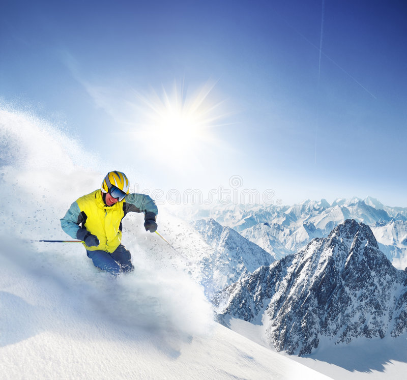 Skier royalty free stock images