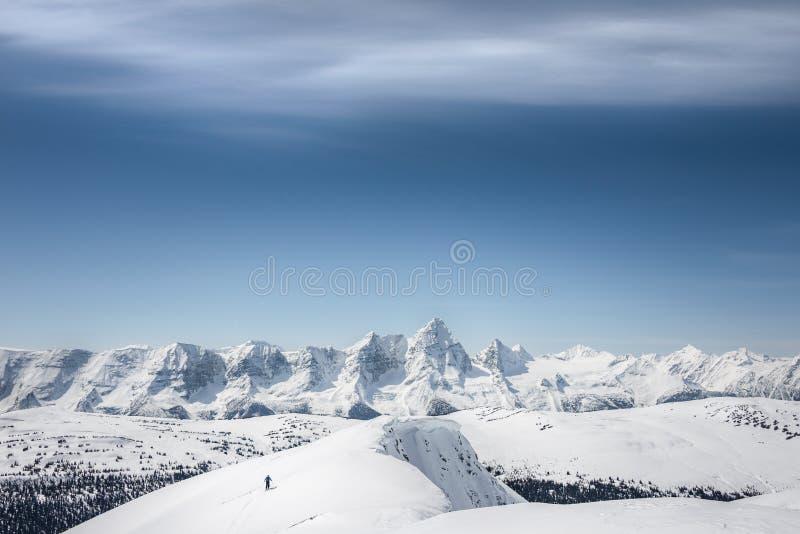 skier royalty-vrije stock fotografie