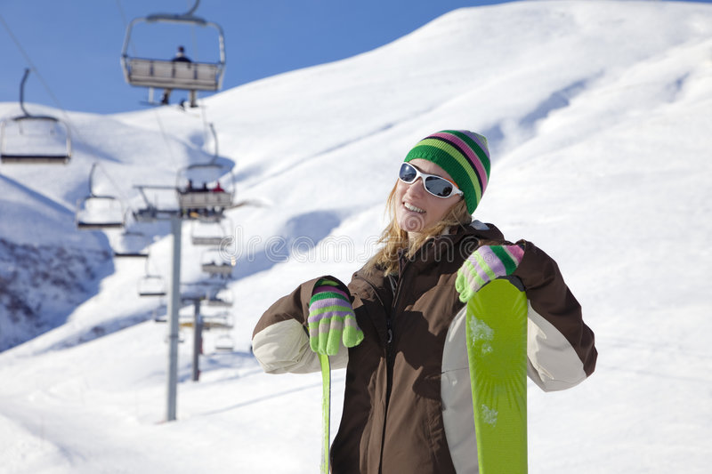 Download Skier stock image. Image of cheerful, happiness, eyeglasses - 7783903